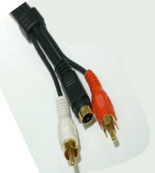 50 foot s-video cable, rca cable, coaxial cable, audio video cable,