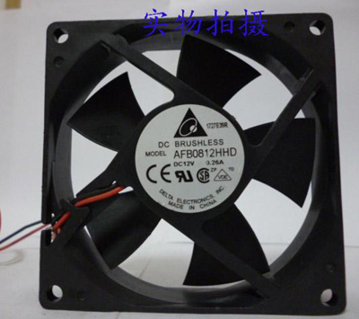 Delta Electronics AFB0812HHD case fan, 80mm, 3 pin jack