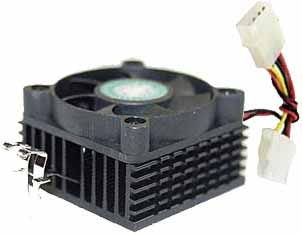 Socket 5 and Socket 7 heatsink and fan with molex connection - connects to the power supply