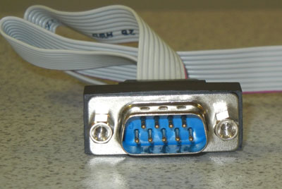 9 pin serial port connector, 10 pin header, without metal bracket,