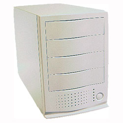 four bay external case for scsi drives, 4 bay firewire enclosure, ide and scsi and  atapi