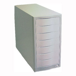seven bay external case for scsi drives, 7 bay firewire enclosure, ide and scsi and  atapi cdrom drives