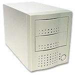 dual bay external case for scsi drives, 2 bay firewire enclosure