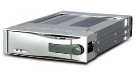 mobile dock for serial ata hard drives, removable frame and tray, drive module, data carrier, serial ata