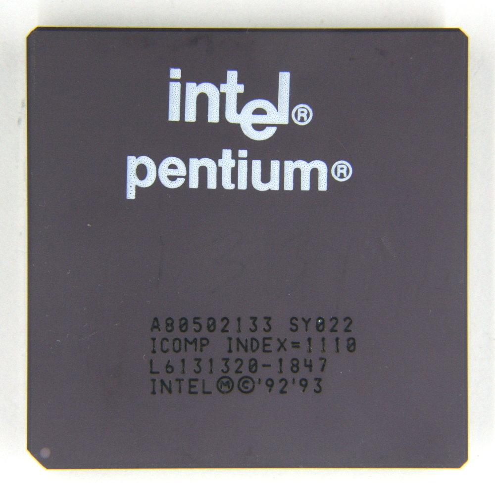 Intel Pentium 133MHz CPU Socket 5 & 7 A80502133 SY022