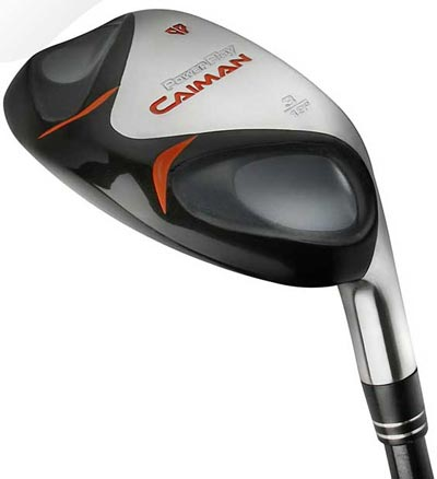 power play caiman,set of 4 hybrid clubs, a cross between a wood and an iron.