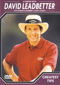 DVD Greatest Tips by David Leadbetter - the renown golf instructor and teacher
