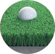 golf - dual turf practice mat simulates fairway lies as well as rough lies