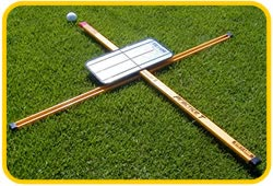 practice t with mirror, training aid, swing and set up training aid