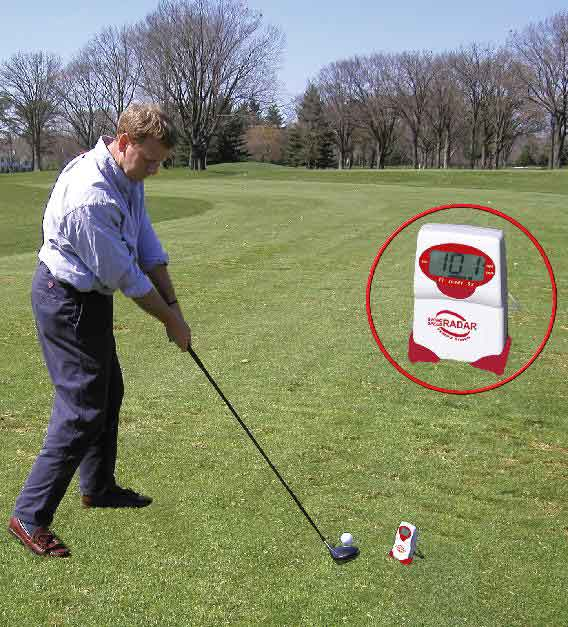 golf - baseball - swing speed radar with tempo timer, gauge, meter, doppler radar
