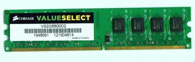 Corsair Memory  2GB DDR2 Memory Corsair VS2GB800D2