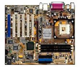 Asus P4GE-V/L motherboard - socket 478 motherboard,  Intel 845GE GMCH chipset, on-board audio, video and lan