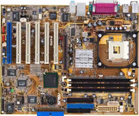 asus P4PE socket 478 motherboard,  Intel 82845PE chipset, on-board audio, raid, gigabit lan, firewire and usb 2.0