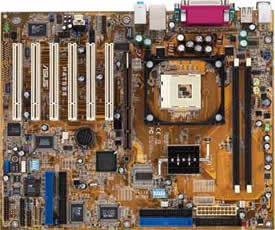 Asus P4T533 motherboard (Intel 850E) Series, 533MHZ FSB, 2 RIMM for RIMM3200/RIMM4200 memory, 6 PCI, 1 AGP Pro w/ optional USB 2.0, Audio & LAN, ATX Form Factor