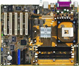 Asus P4XP-X motherboard, Socket 478 for Intel Pentium 4 / Celeron 1.4 GHz ~ 2.6+ GHz,Intel 82845 Memory Controller Hub (B0)