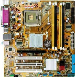 Asus P5GC-VM TPM Motherboard, Supports Intel � Core2 Duo / Pentium � D / Pentium � 4 / Celeron � D  processor in the Socket LGA 775, Intel � 945GC chipset, 1 x PCI Express x16, 3 x 32-bit  PCI, DDR2, LAN, USB, IDE, SATA2, Video, Audio, SPDIF, Micro-ATX Form Factor