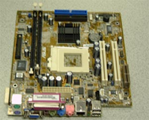 Socket 370 motherboard onboard LAN , Video , and  Audio FlexATX form factorsupports 66MHZ ~ 133MHz FSB
