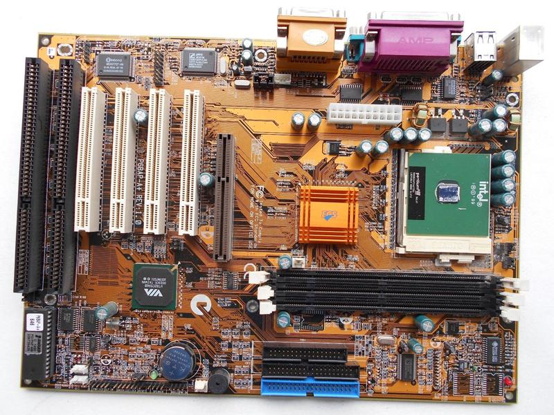 ECS P6BAP-A+ Motherboard, socket 370 with 2 isa slots