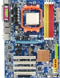 Gigabyte GA-M61P-S3 Motherboard, Support for Socket AM2 for AMD Athlon 64 FX / Athlon 64 X2 Dual-Core / Athlon 64 / Sempron processor in Socket AM2, NVIDIA � GeForce 6100   chipset, 1 x PCI Express X16,  2 x PCI Express x1, 4 x 32-bit 33MHz PCI, DDR2, LAN, USB, IDE, SATA2, RAID, Video, Audio, SPDIF, Firewire, ATX Form Factor