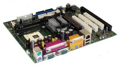 intel D845WR motherboard, pentium 4 motherboard with 1 isa slot, socket 478,