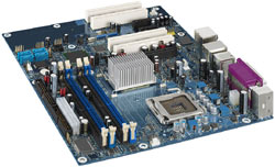 INTEL_D945PWM  Socket:775, Pentium, 945 Chipset, 4PCI, 3 PCI Express, Onboard Audio & Video, LAN, IDE, SATA, ATX Form Factor