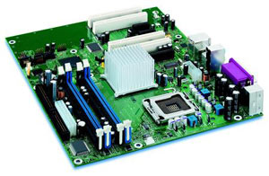 INTEL �D915GAV Motherboard Socket �775,Pentium,Celeron D,915G Chipset,4 PCI,3 PCI Express,DDR,Onboard Audio,Video,Lan,IDE,SATA,ATX Form Factor