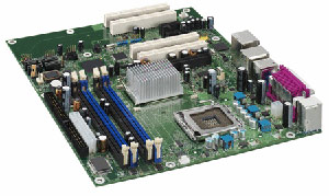 Intel D945GNTLR Motherboard Socket 775,Pentium,Celeron D,945G chipset,4 PCI,2 PCI Express,DDR2,Onboard Audio,Video,Lan,IDE,SATA,RAID,ATX Form factor