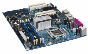 INTELD945PVS Motherboard Socket775,Pentium,Celeron D,945P chipset,4 PCI,3PCI Express,DDR2,Onboard Audio,Lan,IDE,SATA,RAID,ATX Form Factor
