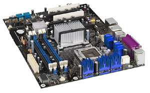 Socket 775, Intel Pentium 4, Intel 975 chipset,2 PCi, 2PCI Express,DDR2 X 4,Onboard Audio, Lan, USB,SATA,ATX