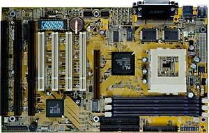 Socket 7 ATX motherboard with 3ISA slots, 300 MHz CPU and 128 MB memory., MS-5169,three 16-bit ISA slots, ATX Form Factor ,Socket 7,AMD motherboard