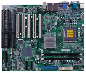 Pentium 4 socket 775 dual core and quad core motherboard with 3 ISA slots