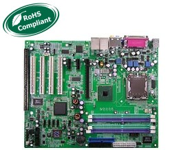 Socket775 Motherboard, Pentium 4 motherboard with 1 ISA slot, supports pentium 4, 3.0GHz and up