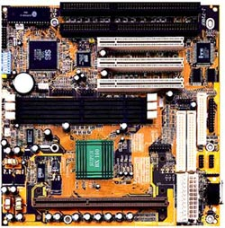 Jetway 720BF / 720BN Slot1 Baby AT motherboard with 2 isa slots