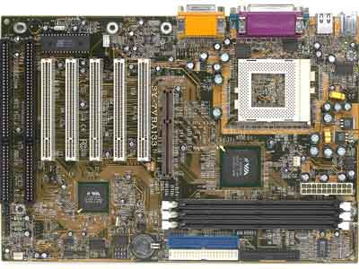 Soyo SY-7VBA133 motherboard socket 370 motherboard with 2 isa slots, pentium iii motherboard