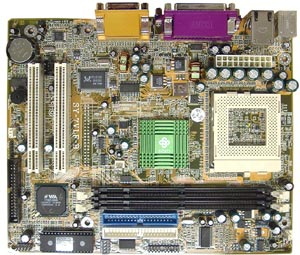 Pentium 3 Motherboard socket 370 flex atx motherboard Soyo SY-7VLF-B