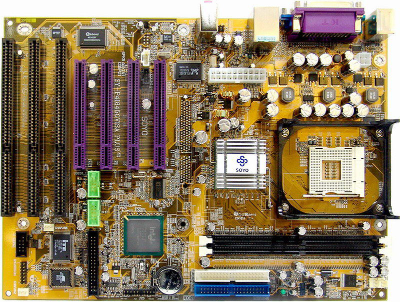 Motherboard with 3 isa slots
