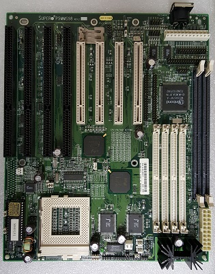 P5MMS98 motherboard, SuperMicro P5MMS98 computer system motherboard,