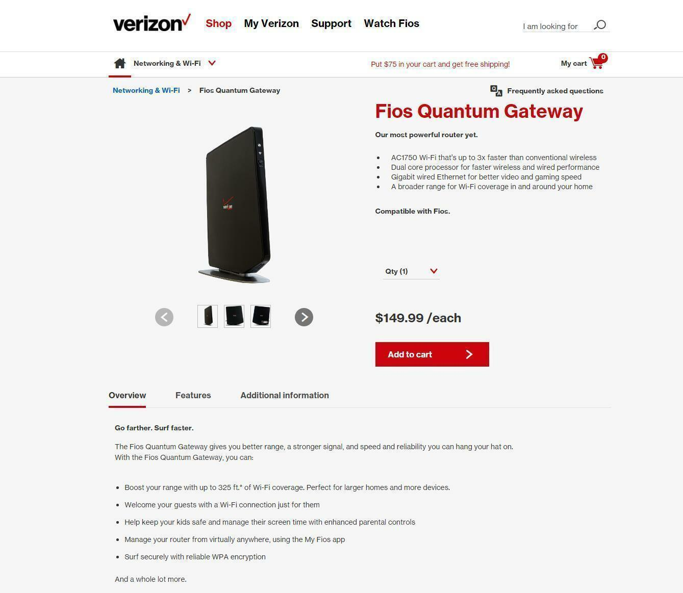 Verizon FiOS-G1100 Router