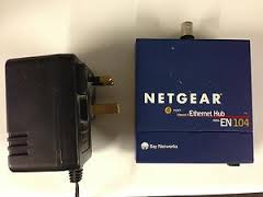 netgear en104 hub with bnc port. 4 port 10mbps ethernet hub with BNC / AUI