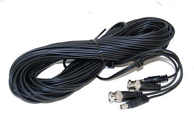 AGI, W50BMBM, Siamese, Cable, 50ft, Black, Cable, Video, BNC, Male, +DC, Male, Cable, for, DIY, DVR, specifications, availability, price, discounts, bargains