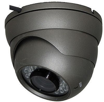 AGI DIR7-735B, Large Black Dome, Camera, Sony Exview + EFFIO-E, 700TVL, 2.8 - 12mm, IP66, SilverGray, 12v, specifications, availability, price, discounts, bargains