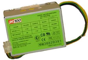 100 watt power supply for MINI DESKTOP BookPC CASE (PCBK25810, B602012L, BKi810, 810-1.6v, BKMVP4, BKS630, BKS630E, BK5598, Patriot PCBX 300/1) - (PC100 Model: PS100)