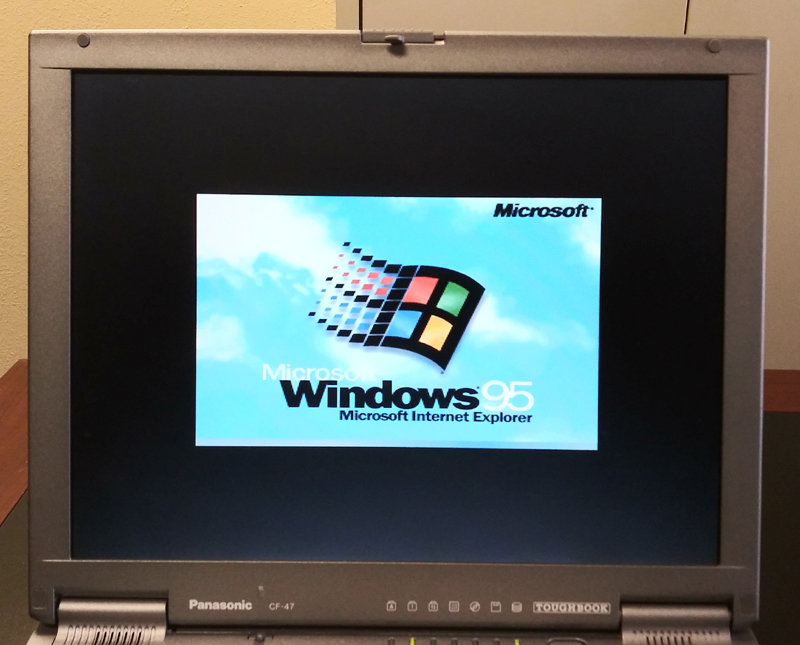 Panasonic CF - 47 Toughbook used laptop with Windows 95 and serial port
