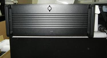 Pentium III 4U rackmount system with 10 ISA slots front closed