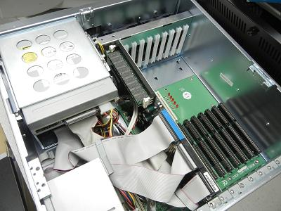 Pentium III 4U rackmount system with 10 ISA slots isa inside