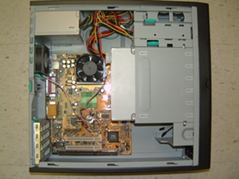 isa computer, slimline computer with 1 isa slot, PC system with one isa slot.